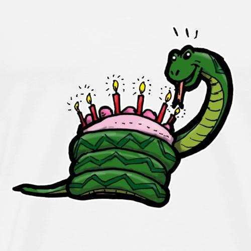 Gâteau d'anniversaire avec un tambour de serpent emballé! - T-shirt Premium Homme