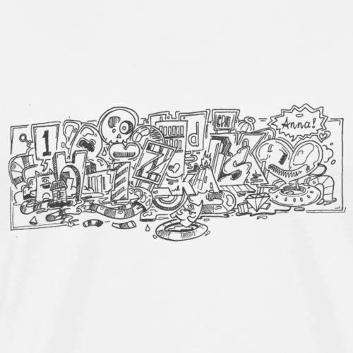 bizk transparent - Herre premium T-shirt