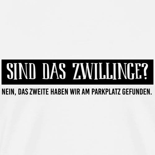 BIO Stoffbeutel: Sind das Zwillinge? - Männer Premium T-Shirt