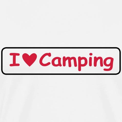 I love camping uni002 - Männer Premium T-Shirt