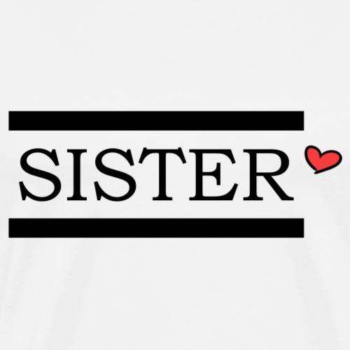 sister black heart color - Männer Premium T-Shirt