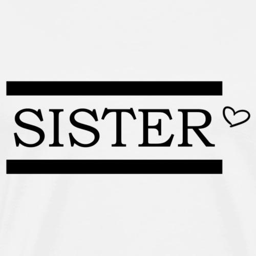 Sister black heart - Männer Premium T-Shirt