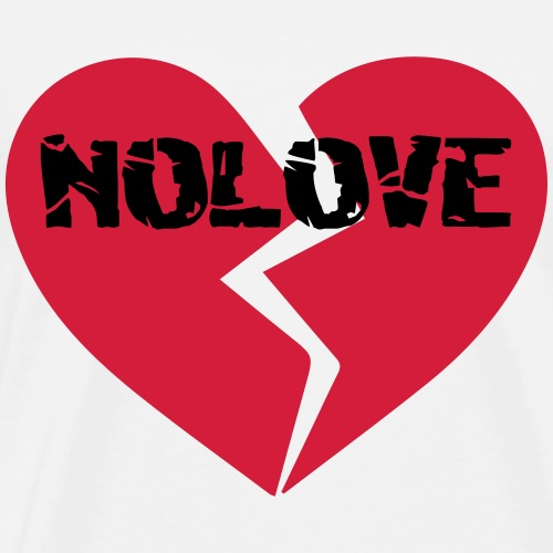 NoLove | No Love Broken Heart - Men's Premium T-Shirt
