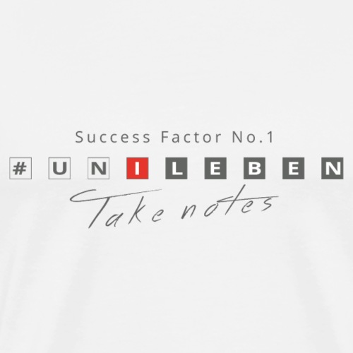 #unileben, Success - Männer Premium T-Shirt