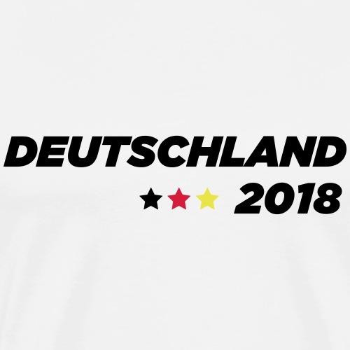 Weltmeisterschaft 2018 Deutschland Sterne - Männer Premium T-Shirt
