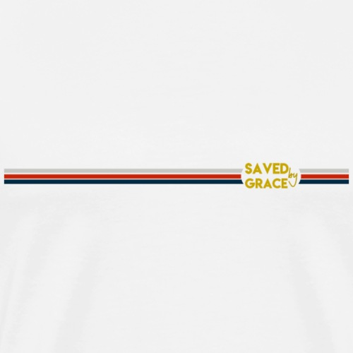 Saved By Grace for White /Sauvé Par la Grâce Blanc - T-shirt Premium Homme