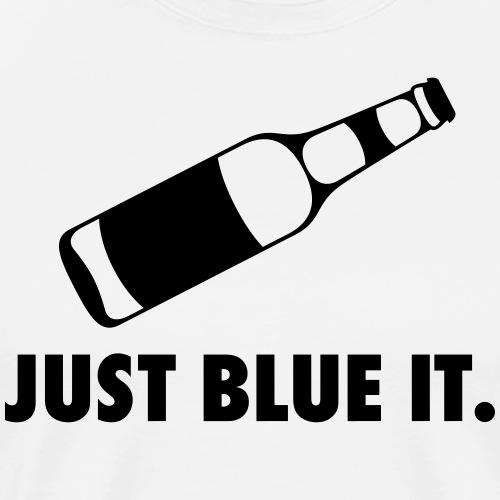 JUST BLUE IT (white) - Männer Premium T-Shirt