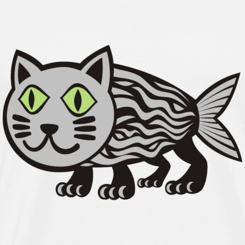 Cat Fish - Men's Premium T-Shirt