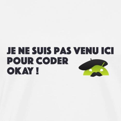 logo coder okay - T-shirt Premium Homme