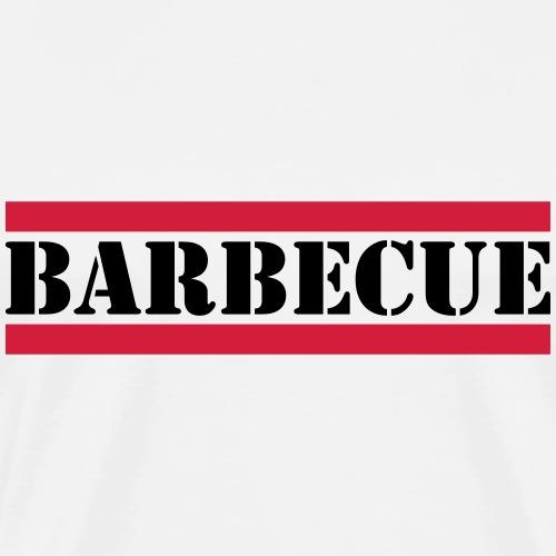 Barbecue Schriftzug mit roten Linien - Männer Premium T-Shirt