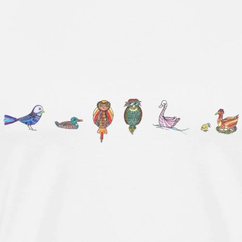 drôles d'oiseaux - T-shirt Premium Homme