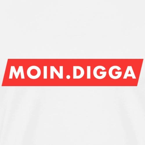 Moin Digga! Lustiges Geschenk - Männer Premium T-Shirt