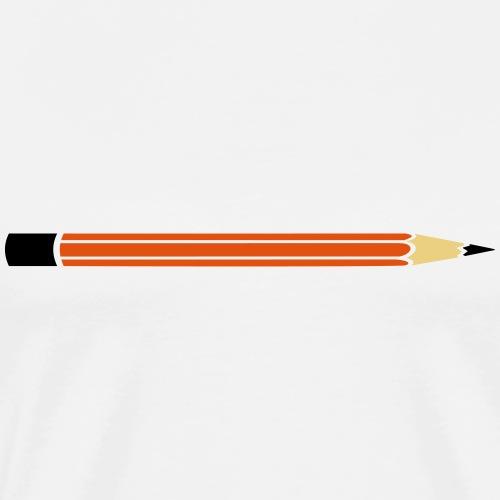 Bleistift für Deinen eigenen Text - Männer Premium T-Shirt