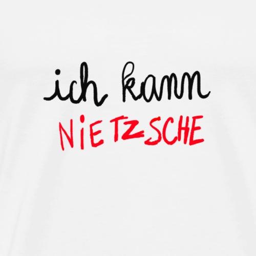 Ich kann Nietzsche - T-shirt Premium Homme
