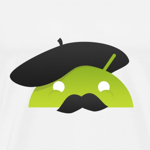 logo tutos android france - T-shirt Premium Homme