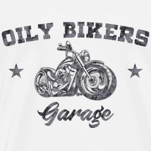 Oily Bikers Garage - Chopper - Men's Premium T-Shirt