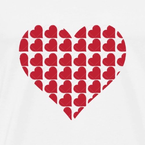 Hearts-love-valentine-day-heart - Men's Premium T-Shirt