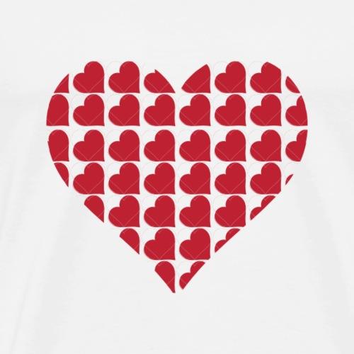 Hjerter-love-valentine-dag-hjerte - Herre premium T-shirt