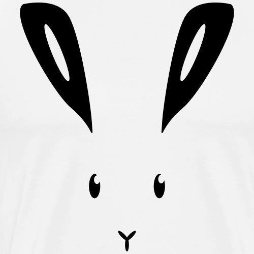 Hase Kaninchen Häschen Osterhase Feldhase bunny - Männer Premium T-Shirt