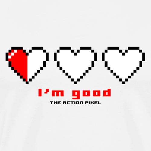 I'm Good Pixel Hearts - Men's Premium T-Shirt