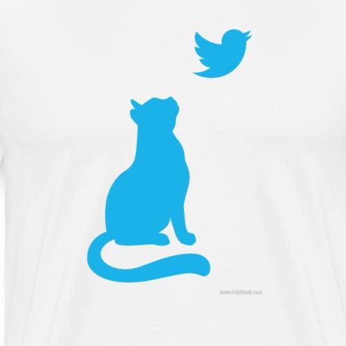 twitter cat - Camiseta premium hombre