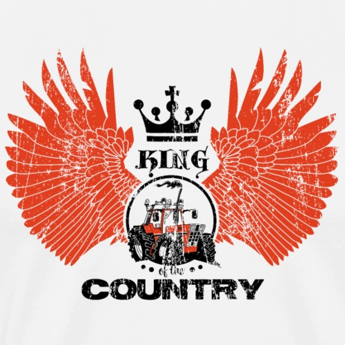 WINGS King of the country zwart rood op wit - Mannen Premium T-shirt