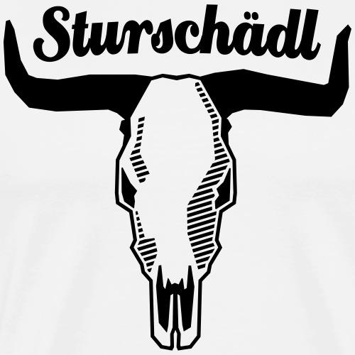 Sturschädl - schwarz - Männer Premium T-Shirt