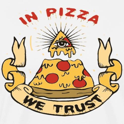 In Pizza we trust Geschenk - Männer Premium T-Shirt