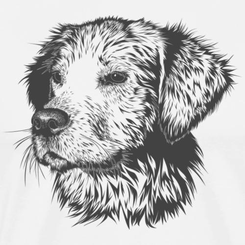 Hund Schwarz Weiß - Männer Premium T-Shirt