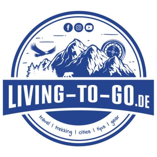 LivingToGo Fan-Shop Logo blau - Männer Premium T-Shirt