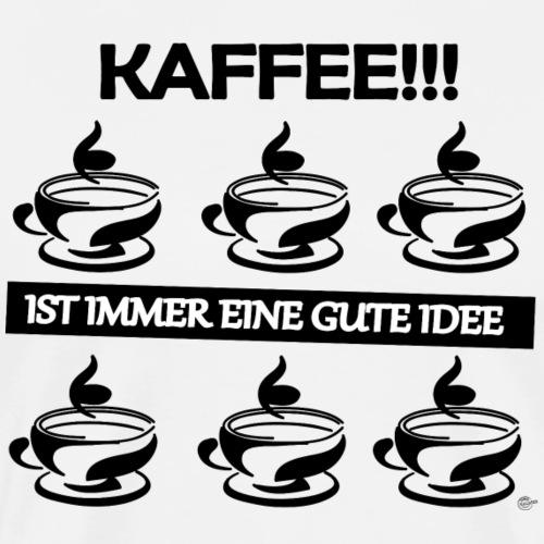 Kaffee Gute Idee - Männer Premium T-Shirt