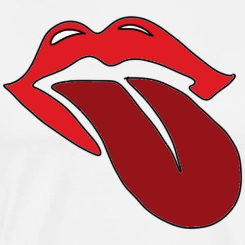 Zunge und Mund - Männer Premium T-Shirt