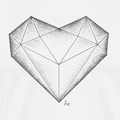 Herz Diamant - Männer Premium T-Shirt