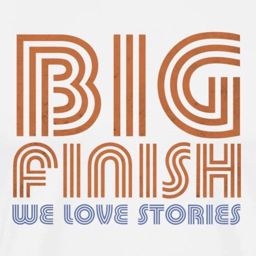 Retro Big Finish Logo - Men's Premium T-Shirt