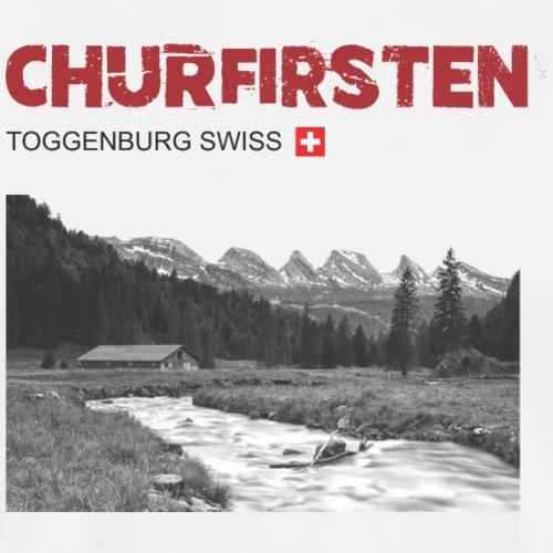 Schweizer Berge T-Shirt Churfirsten Toggenburg - Männer Premium T-Shirt
