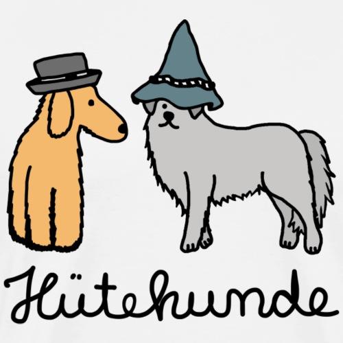 Huetehunde Hütehund Hunde mit Hut - Männer Premium T-Shirt