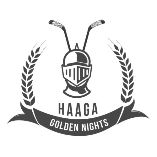 Haaga Golden Nights - Miesten premium t-paita