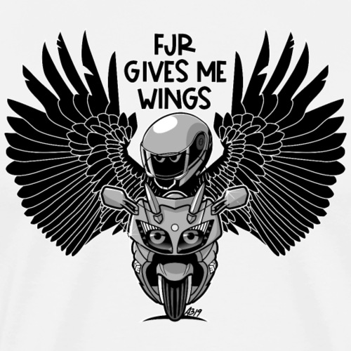 FJR gives me wings def - Mannen Premium T-shirt