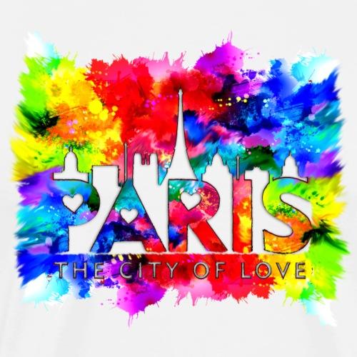 Paris The City of Love Colourfull - T-shirt Premium Homme