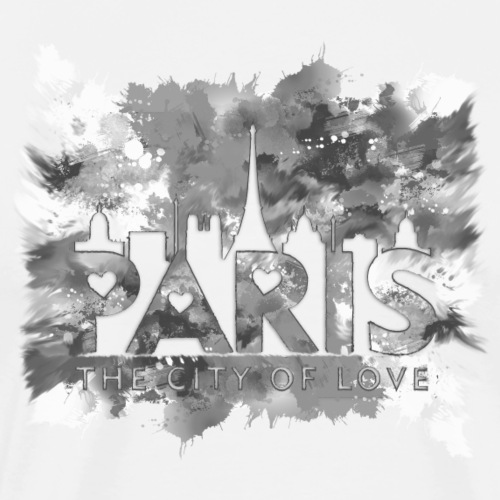 Paris The City of Love Black and White - T-shirt Premium Homme