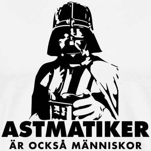 Astmatiker är också människor - Premium-T-shirt herr