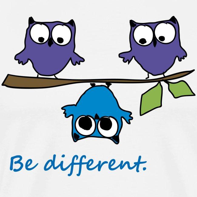 Vogel auf Ast - Be different