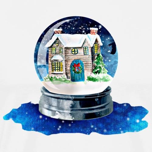 Weihnachten Winterhaus - Männer Premium T-Shirt