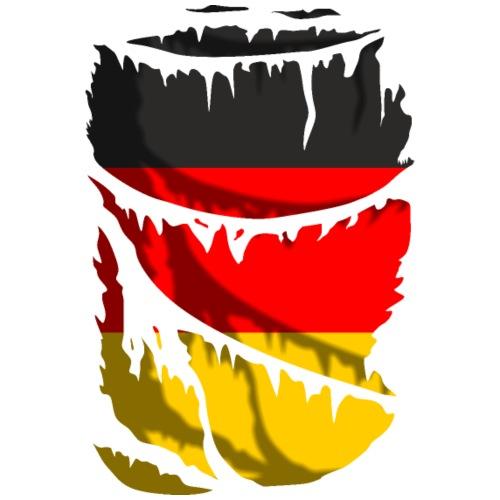 Bandera de Alemania rota - Camiseta premium hombre