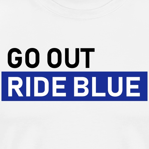 ride blue - Männer Premium T-Shirt