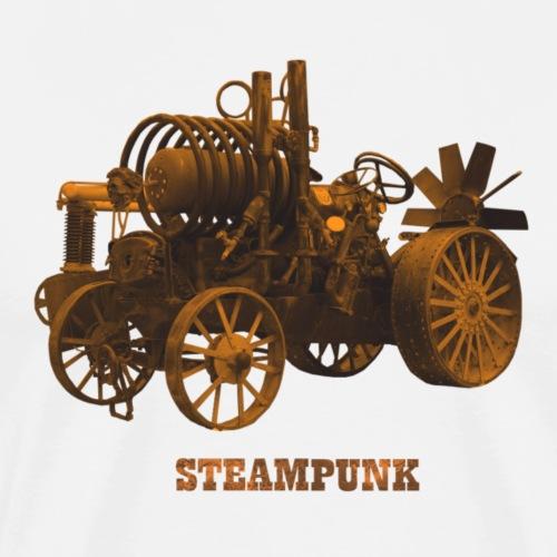 Steampunk Traktor Tractor Retro Futurismus - Männer Premium T-Shirt
