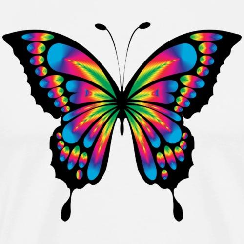 Mariposa colorida - Camiseta premium hombre