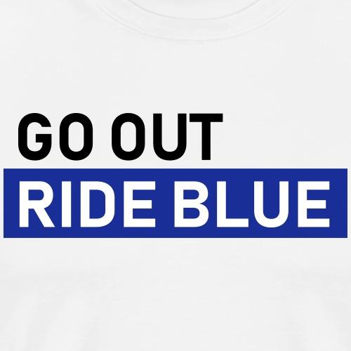 jeździć niebieskim - Koszulka męska Premium