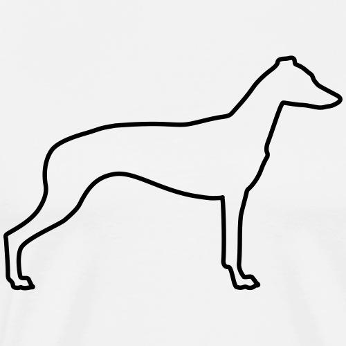 Windhund Silhouette - Männer Premium T-Shirt