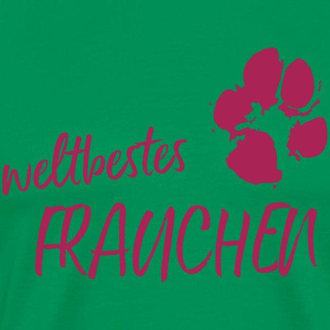Vorschau: weltbestes Frauchen Pfote Hund - Männer Premium T-Shirt